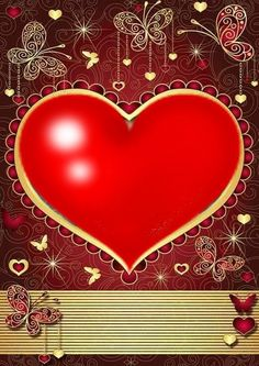 By Artist Unknown. - Wallpaper… By Artist Unknown… - Heart Iphone Wallpaper, Red Wallpaper, I Love Heart, Peace And Love, Love You Gif, Heart Gif, Valentine Heart, Valentines, Pretty Wallpapers