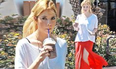 The thigh's the limit! Ashley Benson shows off her slim toned legs in a maxi skirt with two daring slits.