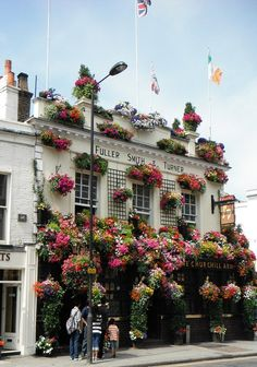 Flowered facade in notting hill