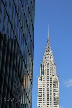 Chrysler building, reflection in NYC Chrysler Building, Empire State Building, Nyc, Reflection, Travel, Viajes, Destinations, Traveling, Trips