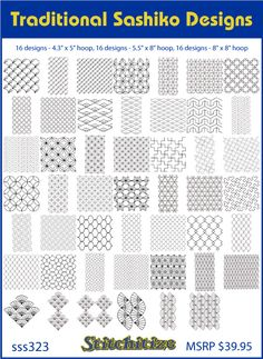 Traditional Sashiko Designs Custom Embroidery Designs By Stitchitize