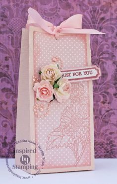 Inspired By Stamping, Kendra Sand, Teeny Tiny Greetings, Flower of the Month: Aster, Fancy Labels 3 Die, Vintage Floral Paper Pad, Pinks Ribbon Collection, 3D Gift Package