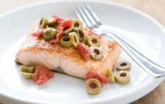 Salmon with Tomato-Olive Topping   Whole Foods Market