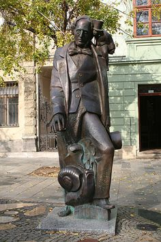 Another statue of Hans Christian Anderson, this one in Bratislava, Slovakia.