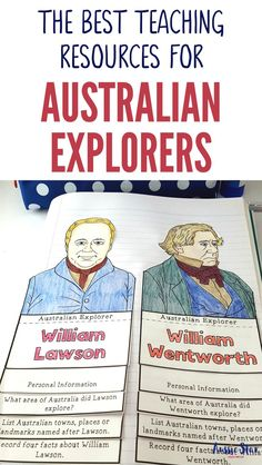 This outstanding range of Australian Explorers Teaching Resources are aligned with the Australian Curriculum and have been designed for your Year 5 HASS Australian History lessons. The activities in these resources are fun, hands-on and interactive and co Geography Classroom, Geography For Kids, Geography Activities, History Activities, Teaching History, Teaching Resources, Library Activities, History Classroom, Geography Quotes