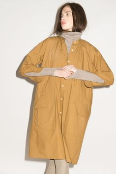 Munroe dress in mustard poplin
