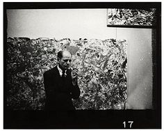 Citation: Jackson Pollock at Betty Parsons Gallery, 1951 / unidentified photographer. Jackson Pollock and Lee Krasner papers, Archives of American Art, Smithsonian Institution.