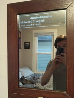 so if your eyesight is not good enough to read the tiny screen, get this mirror.