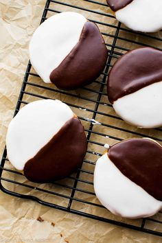 How to make New York City style Black and White Cookies! Recipe on sallysbakingaddiction.com