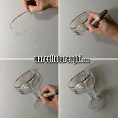 Marcello Barenghi: A beer goblet - drawing phases