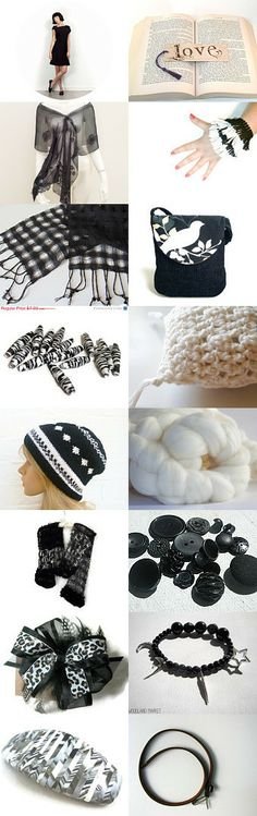 Classic Black and White by Dawn Whitehand on Etsy--Pinned with TreasuryPin.com #buyfromwomen