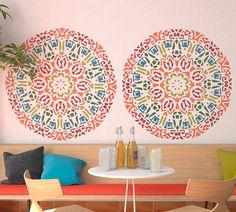 Mándala redondo decorativo estilo Stencil por StencilsLabNY en Etsy