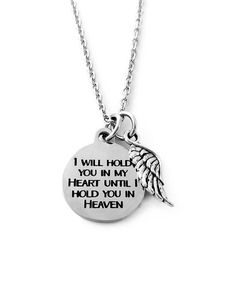 Pebbles Jones Silvertone Until I Hold You in Heaven Necklace | zulily