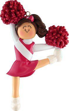 Ornament Central OC-006-R-BR Red Uniform Cheerleader Figurine - List price: $14.00 Price: $7.99