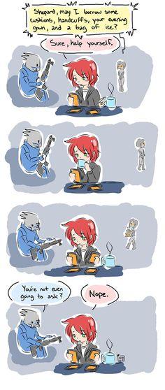 EDI is awesome. =) Mass Effect - Borrow by oranjielub on deviantART