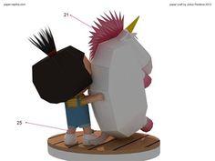 Agnes - Despicable Me Paper Craft