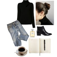 A fashion look from July 2017 featuring turtleneck shirt, a. Cute Fashion, Fashion Outfits, Womens Fashion, Classic Outfits, Stylish Outfits, Blazer And T Shirt, How To Have Style, Preppy Style, My Style