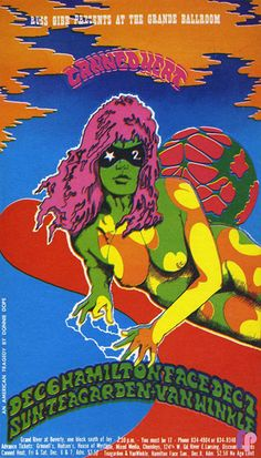 Gorgeous psychedelic handbills and posters from Detroit's Grande Ballroom, circa 1967-68 | Dangerous Minds