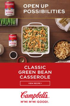 Just six ingredients and 10 minutes to assemble. The holidays love this casserol… Only six ingredients and 10 minutes to assemble. The holidays love this casserole as much as you do. Thanksgiving Recipes, Holiday Recipes, Dinner Recipes, Greenbean Casserole Recipe, Casserole Recipes, Broccoli Casserole, Diy 90s, Chayote Recipes, Classic Green Bean Casserole