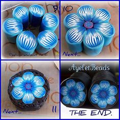 Blue flower cane the end
