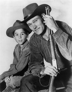 """""""Rifleman"""" with Chuck Connors and Johnny Crawford."""