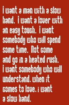 Pointer Sisters - Slow Hand - song lyrics, music lyrics, song quotes, music quotes, songs