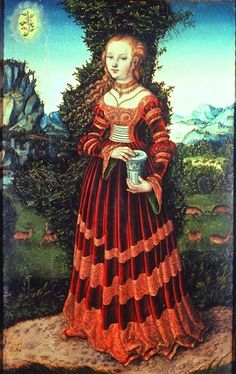 Cranach's Magdalena (this is the web diary for the famous gold and red velvet gown you've seen elsewhere!)