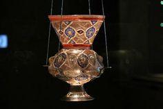 Antique mosque lamp the Museum of Islamic Art, Doha