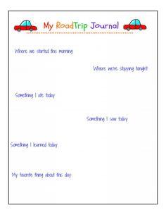 My Road Trip Journal