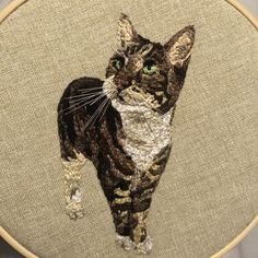 Embroidered Gifts, Pet Portraits, Embroidery, Wall Art, Pets, Animals, Needlepoint, Animales, Animaux