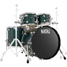 Natal Drums Cafe Racer US Fusion 22 4-Piece Shell Pack with 22 in. Bass Drum British Racing Green Sparkle