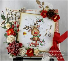 Rudolph Whimsy Stamps. Wee stamps. Sylvia Zet
