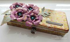 Tattered Florals Challenge Piece #timholtz #sizzix