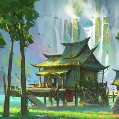 ArtStation is the leading showcase platform for games, film, media & entertainment artists. Fantasy Background, Dnd Art, Camo Colors, Environment Concept Art, Fantasy Landscape, Environmental Art, Fantastic Art, Fantasy Artwork, Fantasy World