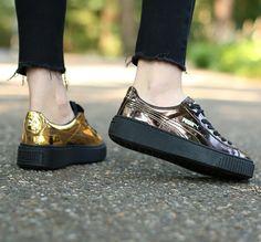 Puma BASKET CREEPERS METALLIC sneakers