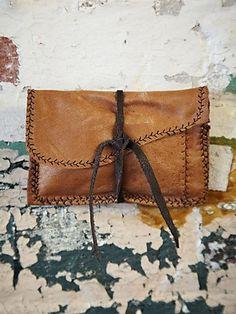 Vintage African Bogolanfani Bag #481 (I especially like the decorative stitching along the raw edges)