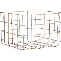 Copper Home Accessories Wire Baskets - Copper wire storage basket Wire Basket Storage, Wire Storage, Wire Baskets, Storage Boxes, Toy Storage, Handmade Home Decor, Diy Home Decor, Copper Wire Basket, Book Baskets