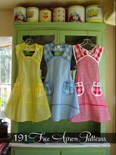 191 Free Apron Patterns...lots of really cute ones!