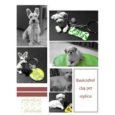 Handcrafted clay pet replicas by #artcraftedpets #ivonneramoscreations