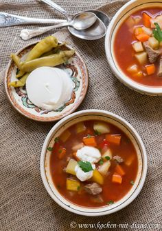Rindsuppe – rumänische Art Coco, Thai Red Curry, Ramen, Food And Drink, Yummy Food, Eat, Ethnic Recipes, Diana, Soups