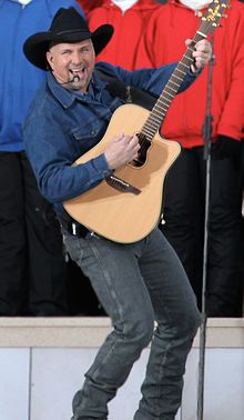 Oklahoman Garth Brooks (1962 - ) Famous Country/Western singer who has sold over 104 million albums; born in Tulsa.