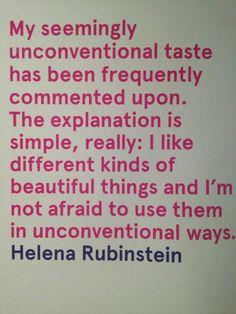 Helena Rubinstein on taste © beautyworkshop.gr