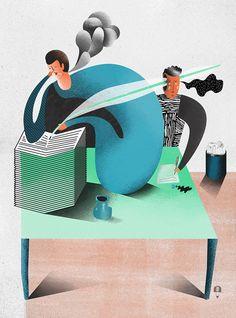 Karol Banach / Editorial illustrations