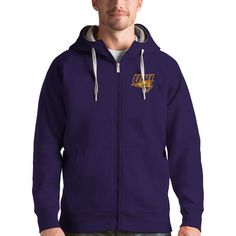 Northern Iowa Panthers Antigua Victory Full-Zip Hoodie - Purple