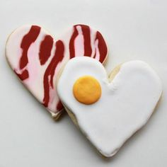 You're the Bacon to My Eggs Valentine Cookie