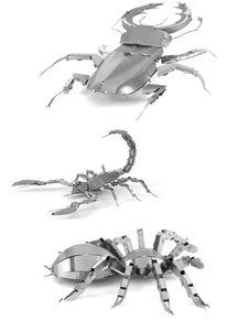 Metal Earth 3D Laser Cut Steel Models - Stag Beetle, Scorpion AND Tarantula = SET OF 3. Available at OurPamperedHome.com