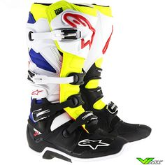 Alpinestars 2017 TECH 7 MX Boots White   Fluo Yellow   Blue 261eafc931