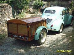 Remorque de Camping Digue & Renault 4cv
