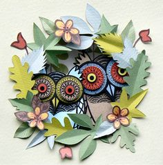 Helen Musselwhite: Papercut art with line art and texture.