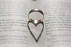 Heart shadow on book